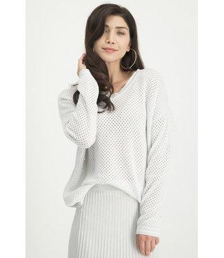 Jane Lushka KN814820SS Elyse Perforated Sweater
