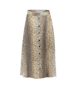 Geisha 06020-24 Skirt AOP leopard button closure