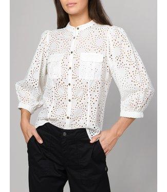 Summum Woman 2s2377-11150 Shirt puff sleeve cotton chiffly