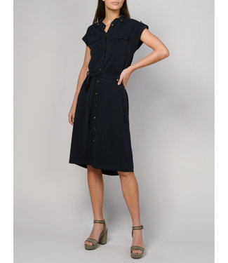 Summum Woman 5s1141-30122 Dress safari short slv washed modal pique