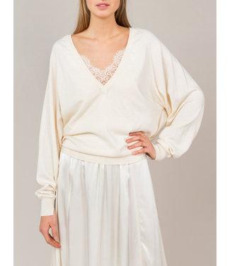 Summum Woman 7s5475-7738 Sweater organic combed cotton batwing