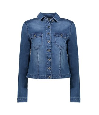Geisha 05012-10 Jacket denim l/s & front pockets