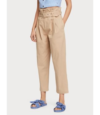 Maison Scotch 156372 Paperbag pants in peached cotton twill quality