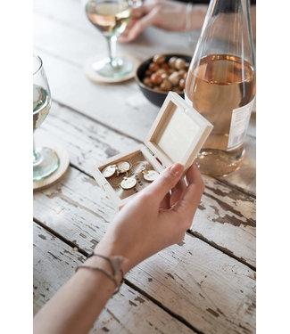 Zusss 0704-002-7004-00 Set van 6 wijnglas hangers