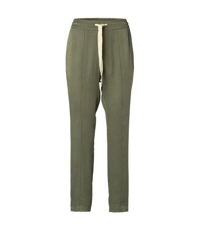 Yaya 1201179-013 Woven satin jogger pants
