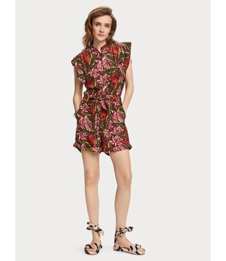 Maison Scotch 156129 Printed short all-in-one