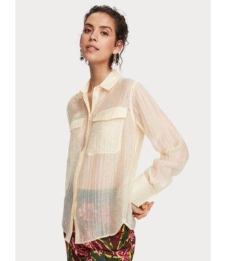 Maison Scotch 156047 Classic shirt in sheer quality