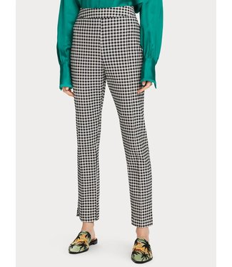 Maison Scotch 156401 Checked straight leg pants