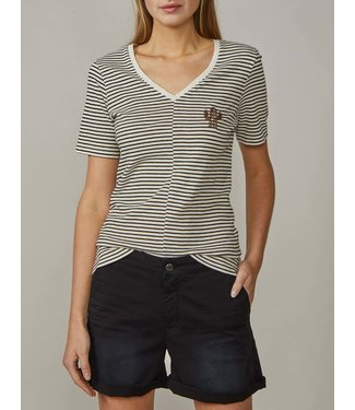 Summum Woman 3s4416-30156Tee short slv sparkle stripe