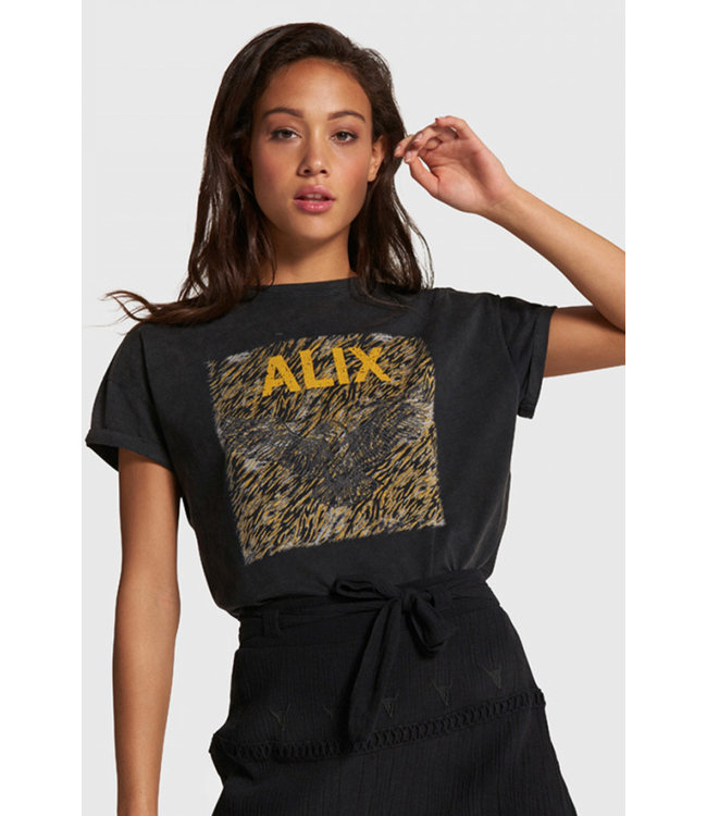 Alix the Label 203892593 ladies knitted boxy eagle t-shirt.