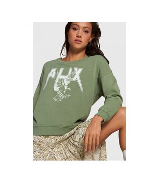 Alix the Label 203895591 ladies knitted garment dyed boxy ALIX sweater