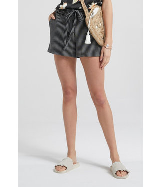 Yaya 123144-015 Jacquard shorts with ruffles