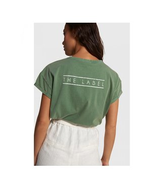 Alix the Label 203892594 ladies knitted boxy THE LABEL t-shirt