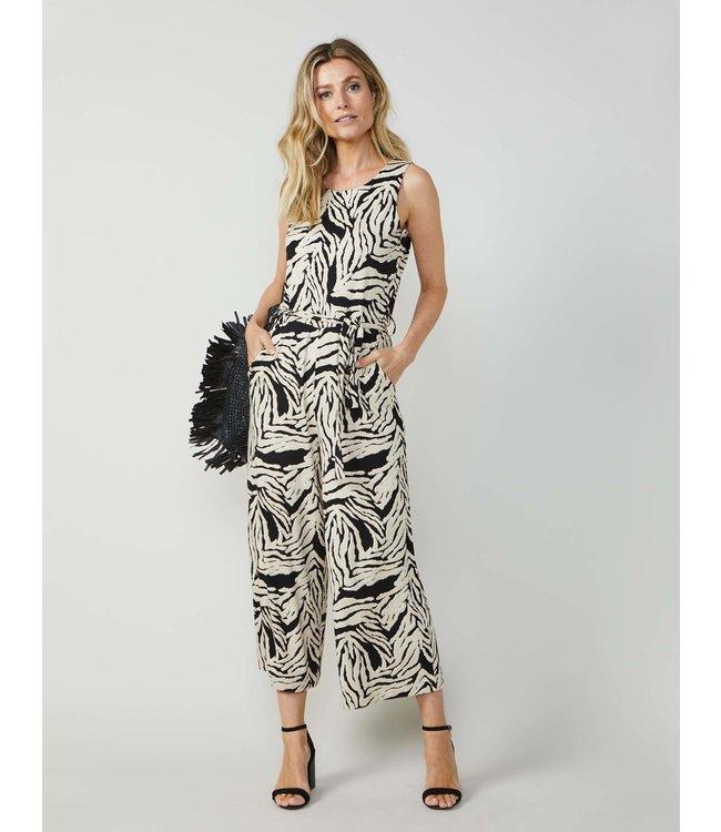 Summum Woman 4s1975-30159Belted jumpsuit zebra print