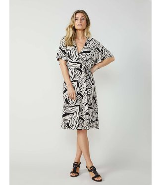 Summum Woman 5s1179-30159Wrap dress short slv zebra print