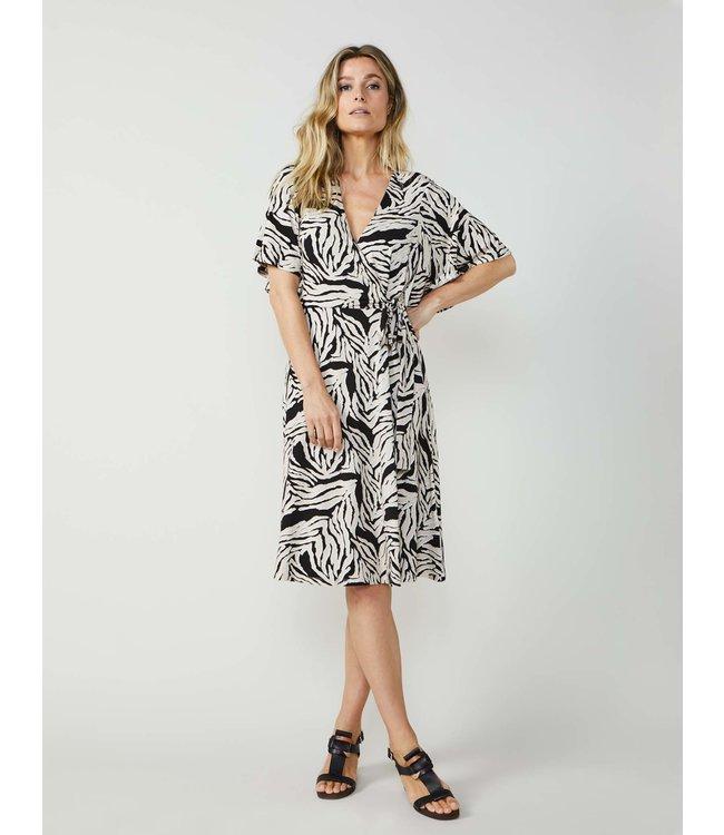 Summum Woman 5s1179-30159Wrap dress short slv zebra print