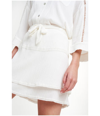 Alix the Label 203280564 ladies woven crinkle mini skirt.