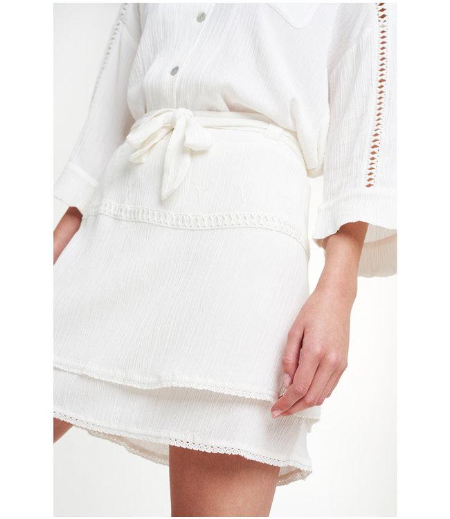 Alix the Label 203280564 ladies woven crinkle mini skirt.