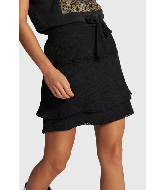 Alix the Label 203280564 ladies woven crinkle mini skirt