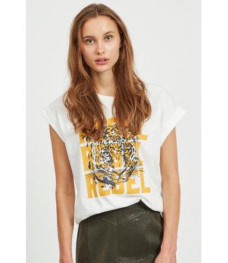 Vila 14061721 Tijgerprint T-Shirt