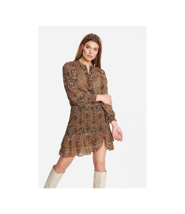Alix the Label 204220618 ladies woven animal crepe skirt