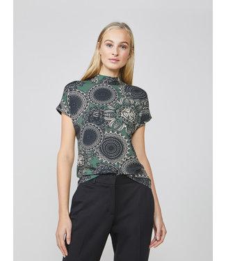 Summum Woman 3s4470-30186 Top short slv jersey paisley circles