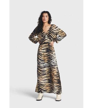 Alix the Label Woven tiger viscose maxi dress