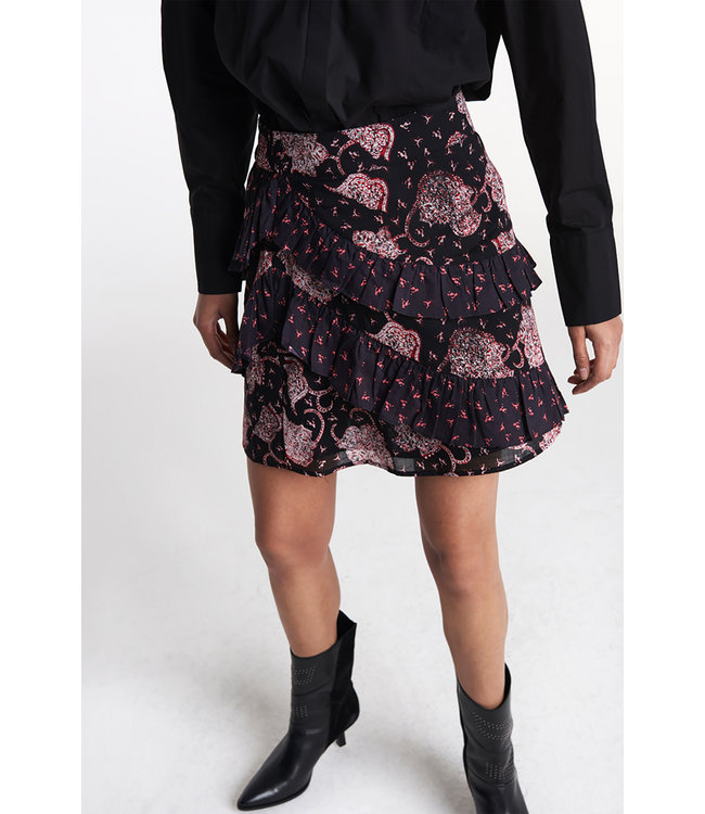 Alix the Label Woven flower paisley ruffled skirt