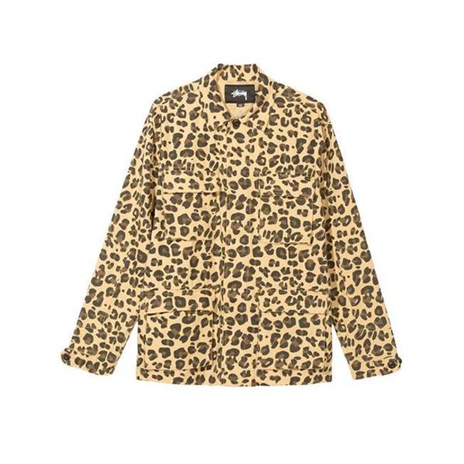 Linen Field Jacket Leopard