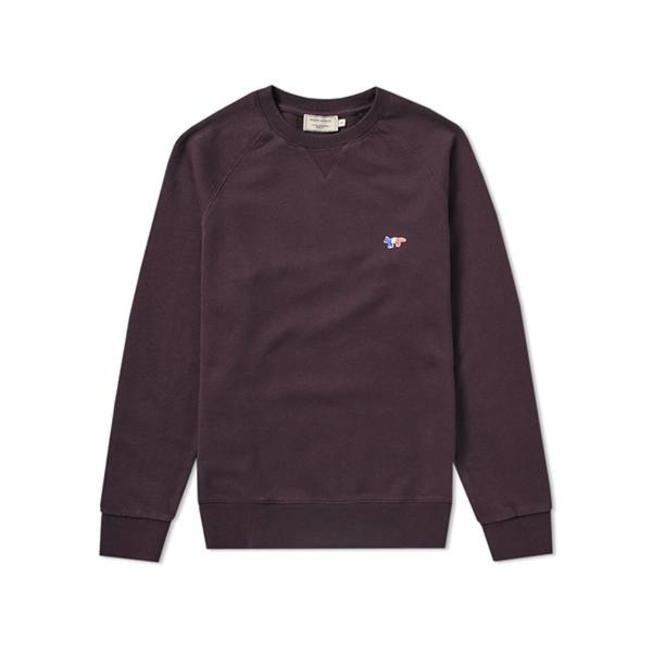 Sweatshirt Tricolor Fox Patch Burgundy