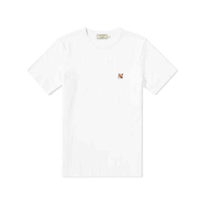 Tee Shirt Fox Head Patch White