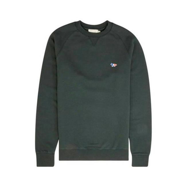 Sweatshirt Tricolor Fox Patch Green