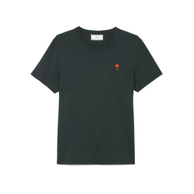 AMI Embroidered Heart Logo Tee Green