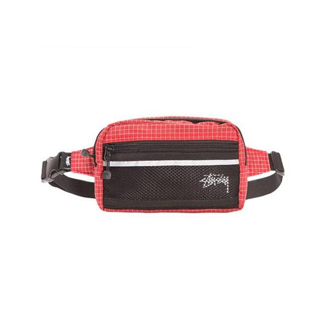 Ripstop Nylon Waist Bag Red
