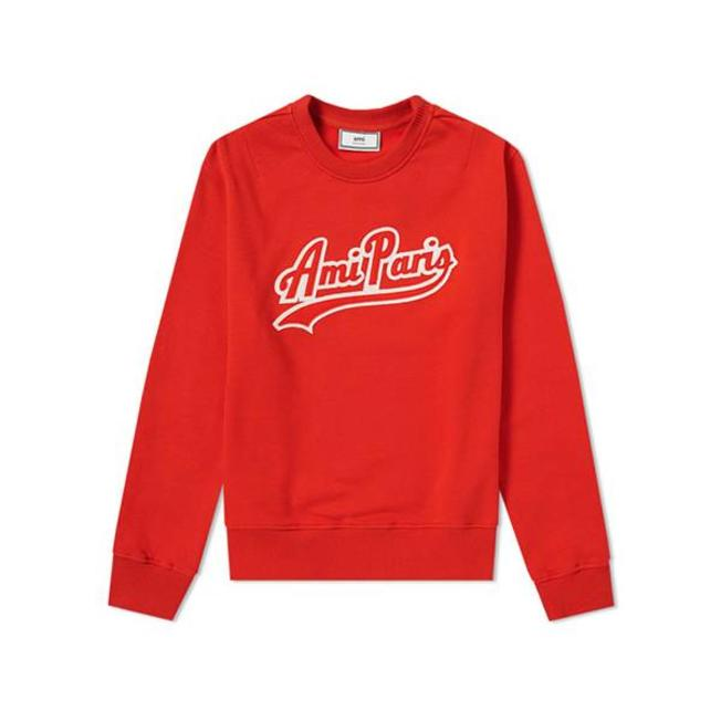 Sweatshirt Ami Paris Patch Red
