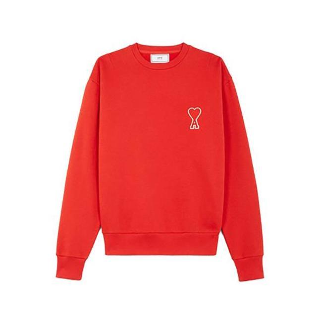 Sweatshirt Patch Coeur Red
