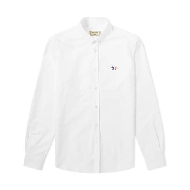 Classic Shirt Fox Patch White