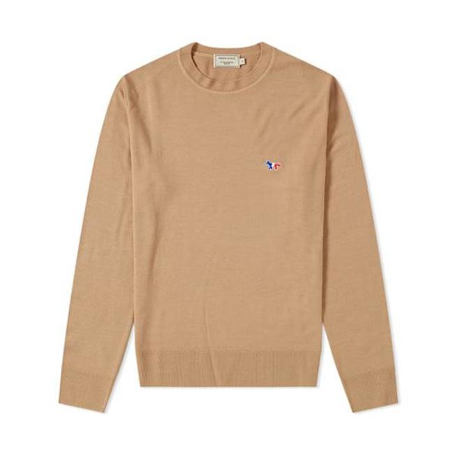 Vrigin Wool R neck Pullover Beige