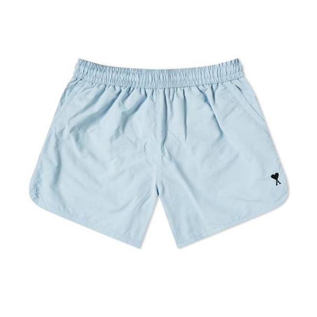 AMI Swim Shorts Embroidery Plain Sky Blue
