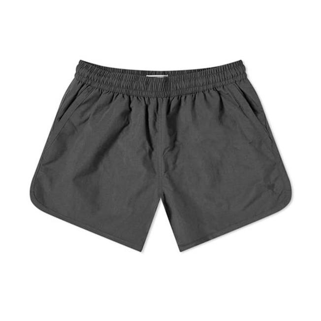 AMI Swim Shorts Embroidery Plain Black