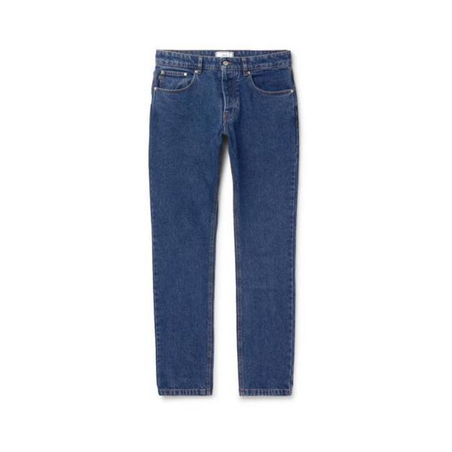 AMI Men Fit 5 Pockets Jeans Washed Blue
