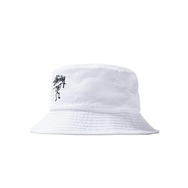 Warrior Man Bucket Hat White