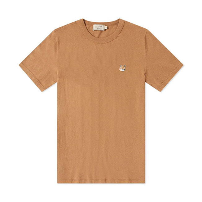 T-Shirt Tricolor Fox Head Patch Beige