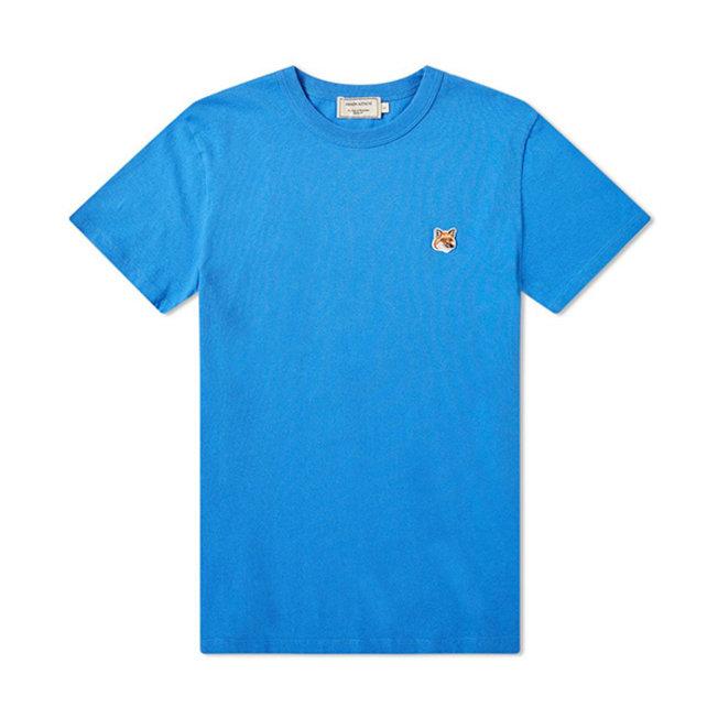 T-Shirt Tricolor Fox Head Patch Blue