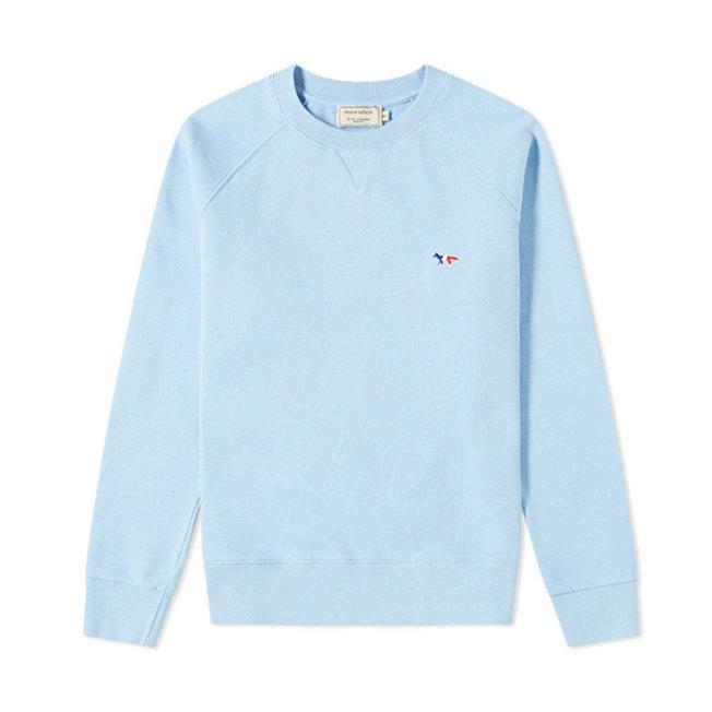 Sweatshirt Tricolor Fox Patch Light Blue