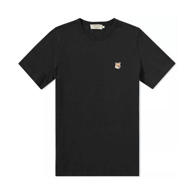 T-Shirt Tricolor Fox Head Patch Black
