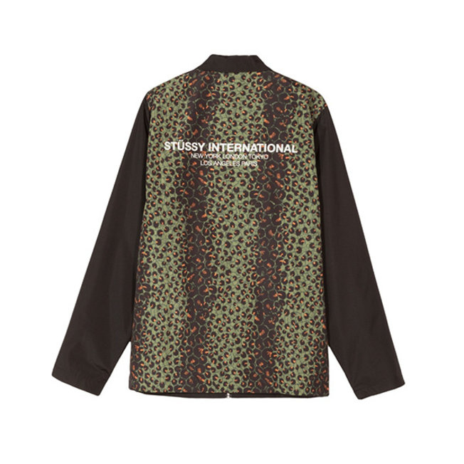 Stussy Leopard Panel Jacket