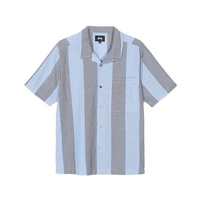 Stussy Bold Stripe Shirt Blue