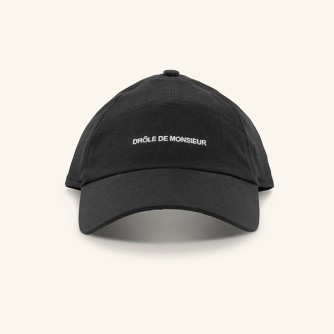 7 Panels Logo Cap Black