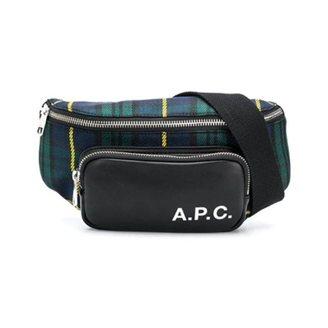 A.P.C. Camden Waist Bag Navy Check